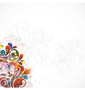 Free colorful swirls background vector - vector gratuit #263253