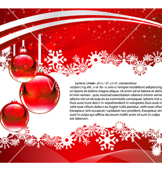 Free christmas greeting card vector - Free vector #263503