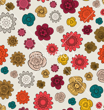 Free seamless floral background vector - бесплатный vector #263623