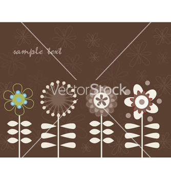 Free retro floral background vector - vector gratuit #263903