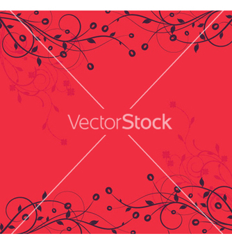 Free retro floral background vector - Free vector #263933