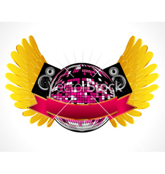 Free music emblem vector - Free vector #264033