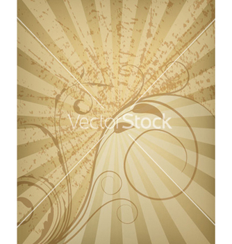 Free floral with rays background vector - vector gratuit #264043