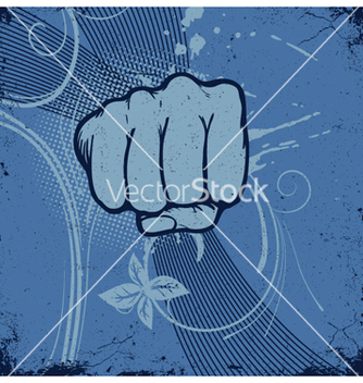 Free vintage grunge background with fist vector - Free vector #264183