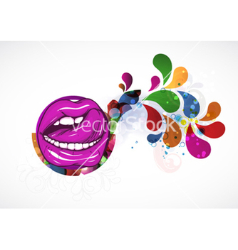 Free mouth with colorful swirls vector - Kostenloses vector #264323