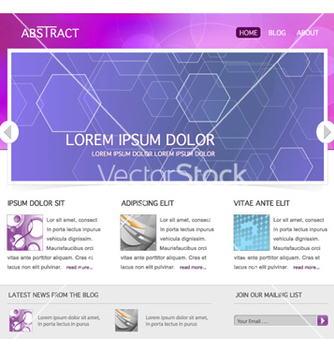 Free modern website template vector - Free vector #264333