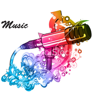 Free colorful music poster vector - vector gratuit #264473