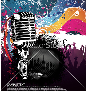 Free concert poster vector - Free vector #264523