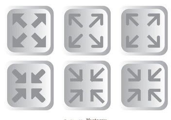 Page Size Button Icons - vector gratuit #264613