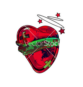 Free grunge heart vector - Free vector #264653