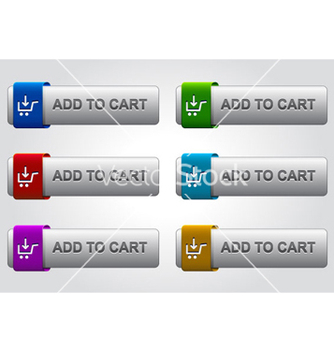Free glossy add to cart buttons set vector - Kostenloses vector #264663