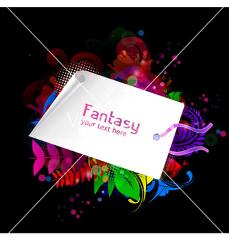 Free shopping tag with colorful floral vector - vector gratuit #264683