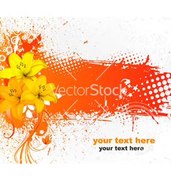Free grunge colorful floral background vector - Free vector #264703