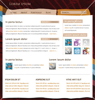 Free retro website template vector - Free vector #264753