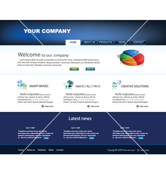 Free glossy website template vector - Free vector #264983