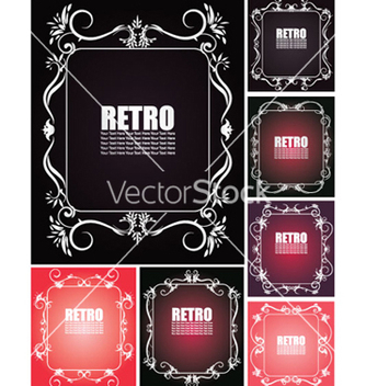 Free floral backgrounds set vector - Kostenloses vector #265273