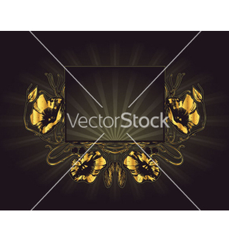 Free vintage gold frame vector - Kostenloses vector #265283