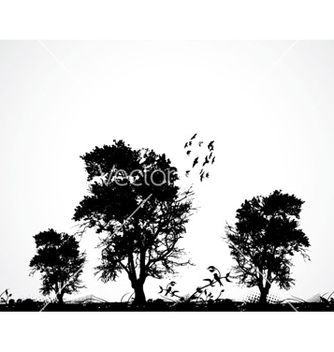 Free grunge background with trees vector - vector #265313 gratis