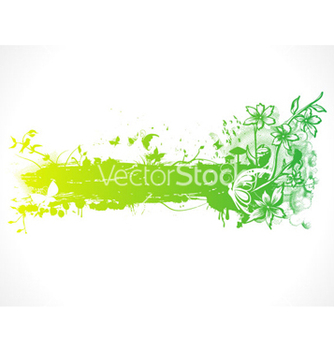 Free green design with butterflies vector - Free vector #265383