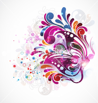 Free colorful abstract vector - Free vector #265643