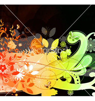 Free abstract colorful floral background vector - vector gratuit #265813