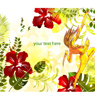 Free colorful floral background vector - vector #265893 gratis