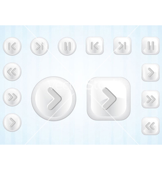 Free media buttons set vector - vector #265933 gratis