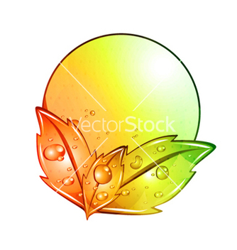 Free abstract colorful frame with leaves vector - Free vector #266073