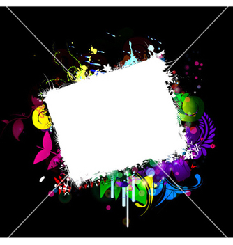 Free grunge frame with abstract background vector - vector gratuit #266093