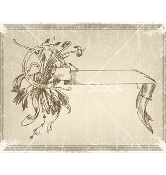 Free ribbon with floral vector - vector gratuit #266113