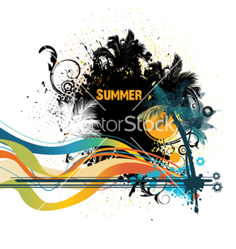 Free grunge summer vector - Free vector #266193
