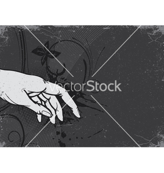 Free vintage grunge background with hand vector - Free vector #266273