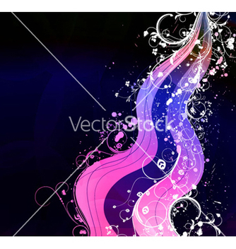 Free wave with floral vector - vector gratuit #266293