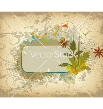 Free colorful grunge floral frame vector - Kostenloses vector #266383