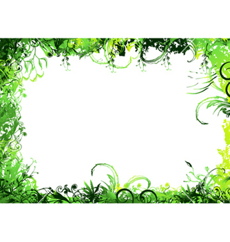 Free green floral background vector - Free vector #266503