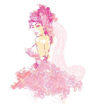 Free beautiful abstract bride vector - Free vector #266733