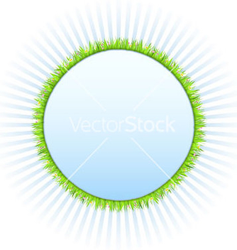 Free circle with grass vector - vector gratuit #266793