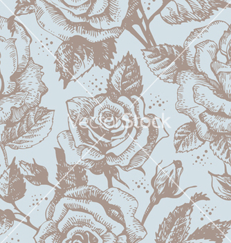 Free seamless floral pattern with roses vector - Free vector #266823