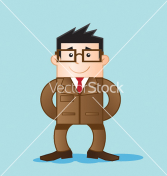 Free worker with elegant clothes vector - Free vector #266843