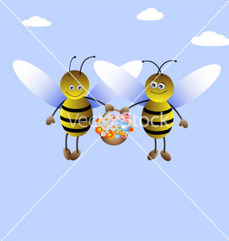 Free beeboy and beegirl vector - бесплатный vector #266863