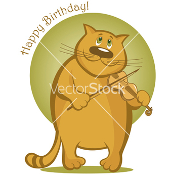 Free smiling cat playing the violin vector - бесплатный vector #266953