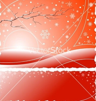 Free winter background vector - vector gratuit #267253