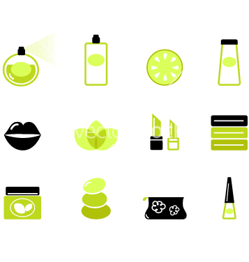 Free cosmetic icons vector - Free vector #267273