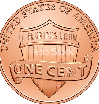 Free american one cent coin vector - Free vector #267393
