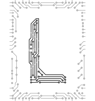 Free alphabet of printed circuit boards vector - Free vector #267403