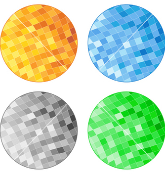 Free abstract tile circles vector - Free vector #267433