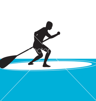 Free stand up paddle boarding vector - vector gratuit #267483