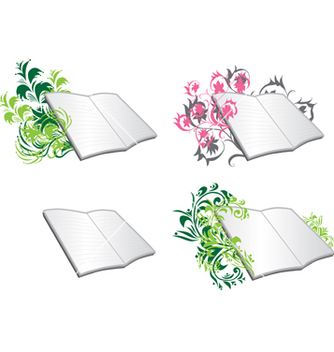 Free floral diaries vector - Free vector #267533