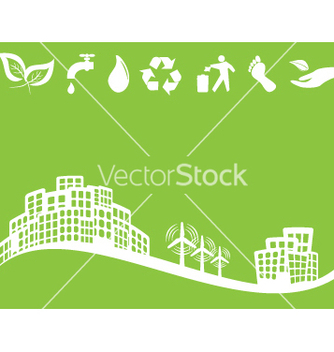 Free green city vector - vector gratuit #267543