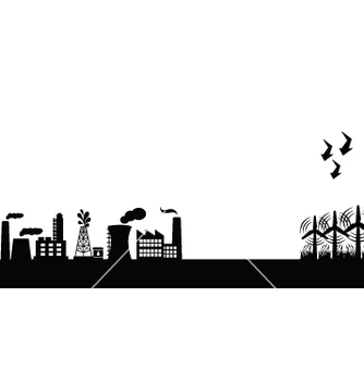 Free green city vector - vector #267583 gratis